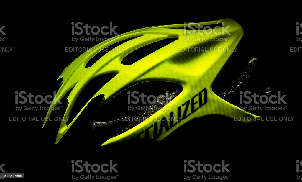 Specialized Bicycle Helmet Isolated stock photo