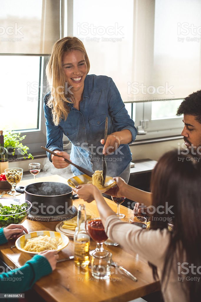 Specially prepared for friends stock photo