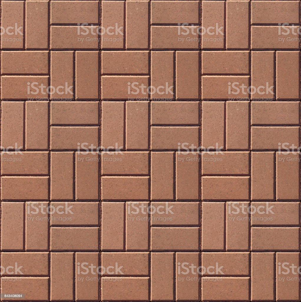 Specially prepared seamless pattern of paving slabs stock photo