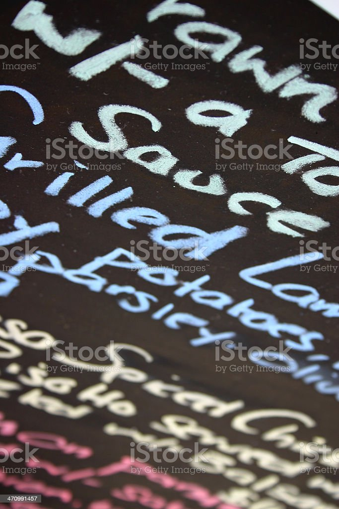 Specials of the Day royalty-free stock photo