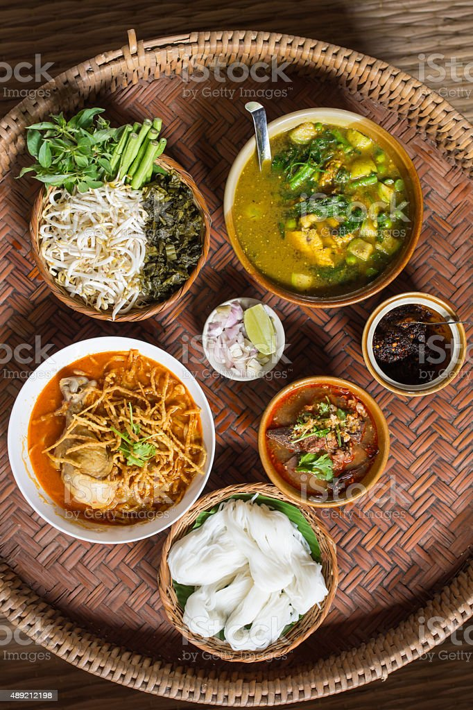 Specialty food of Northern Thailand - Nan province stock photo