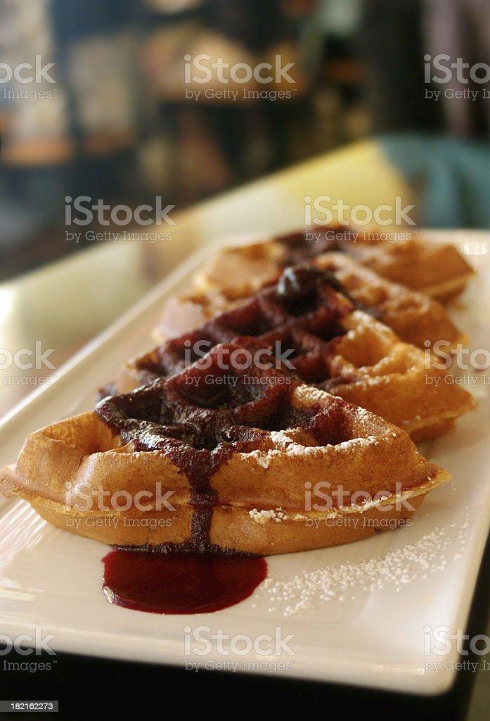 specialty waffle royalty-free stock photo