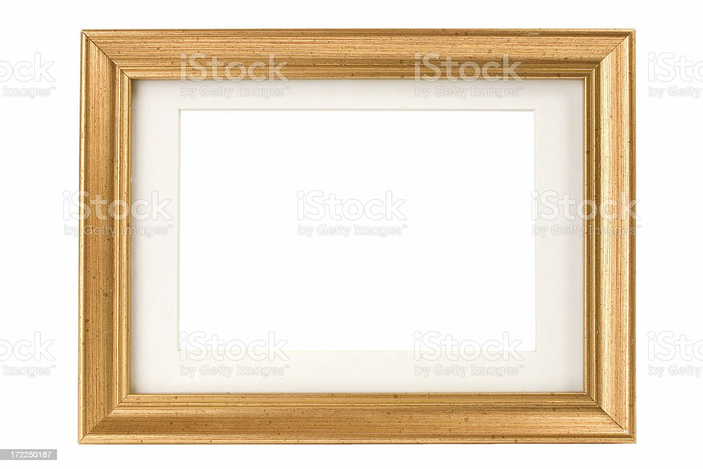 Speckled Gold Picture Frame with Matte royalty-free stock photo