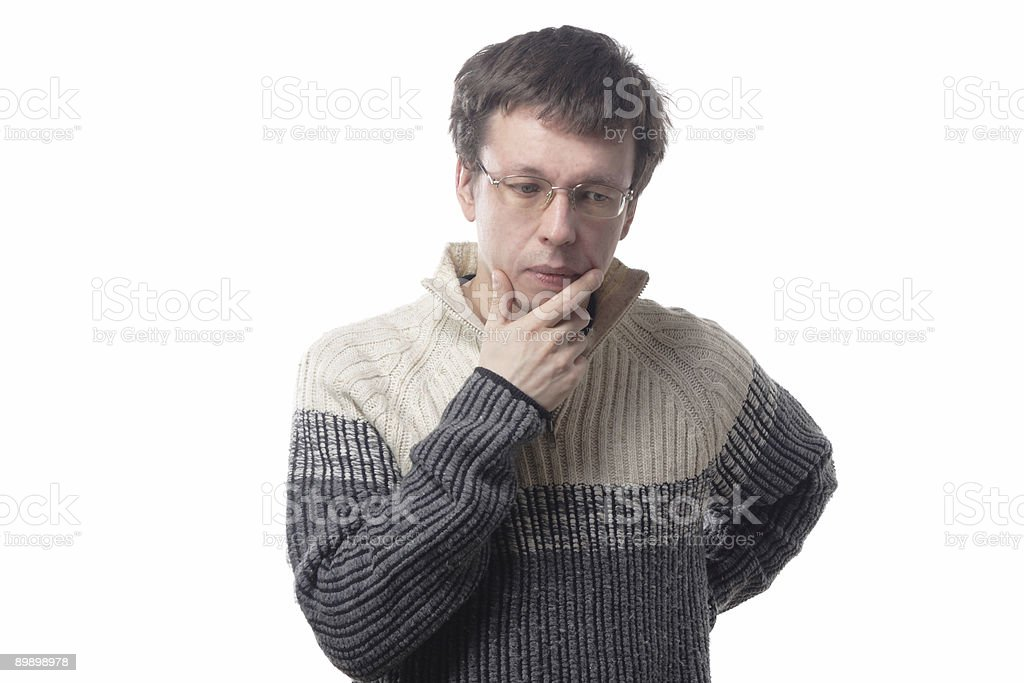 Spectacled man royalty-free stock photo