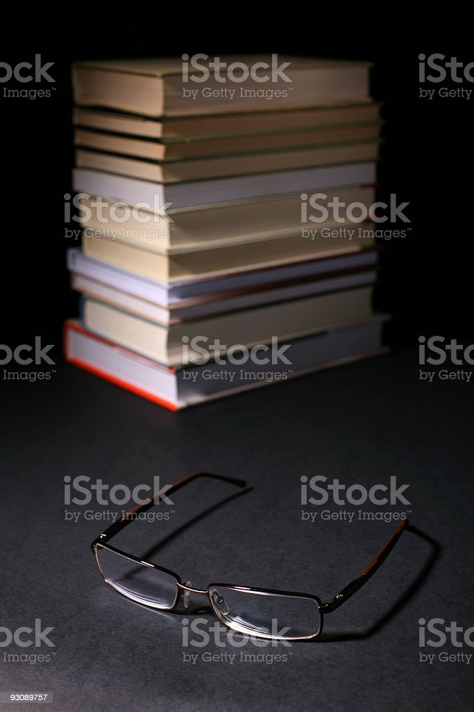 Spectacles and the books royalty-free stock photo