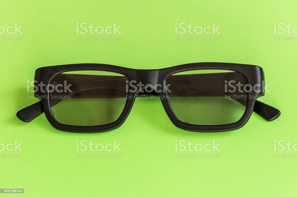 Brille auf Pastell farbigen Hintergrund. Ansicht von oben. Mock-up für Design. - Lizenzfrei Accessoires Stock-Foto