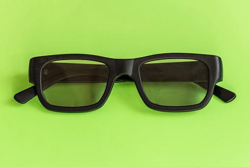Brille Auf Pastell Farbigen Hintergrund Ansicht Von Oben Mockup Für Design Stockfoto und mehr Bilder von Accessoires
