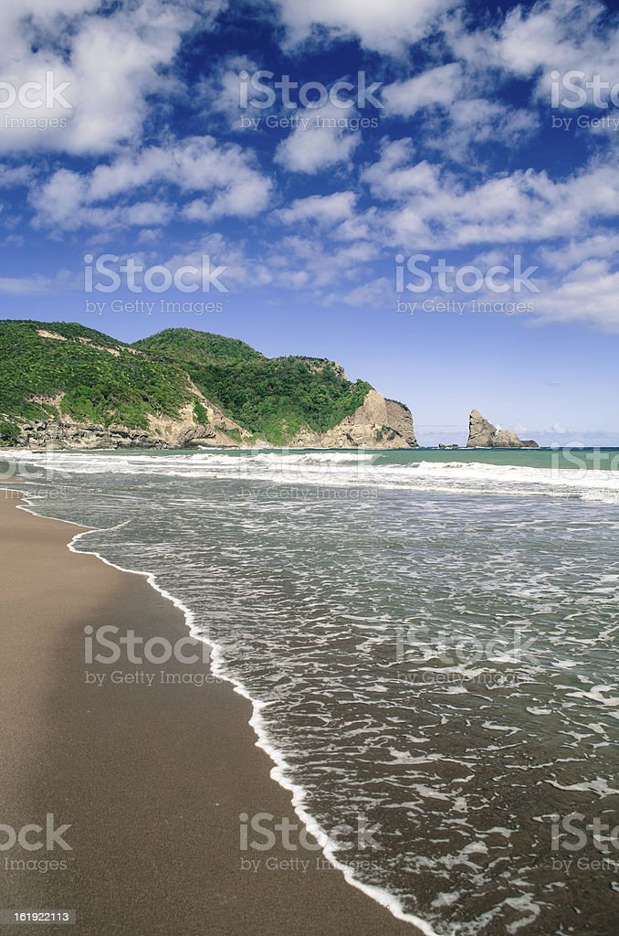 spectacular beach at Fond D'Or St Lucia stock photo