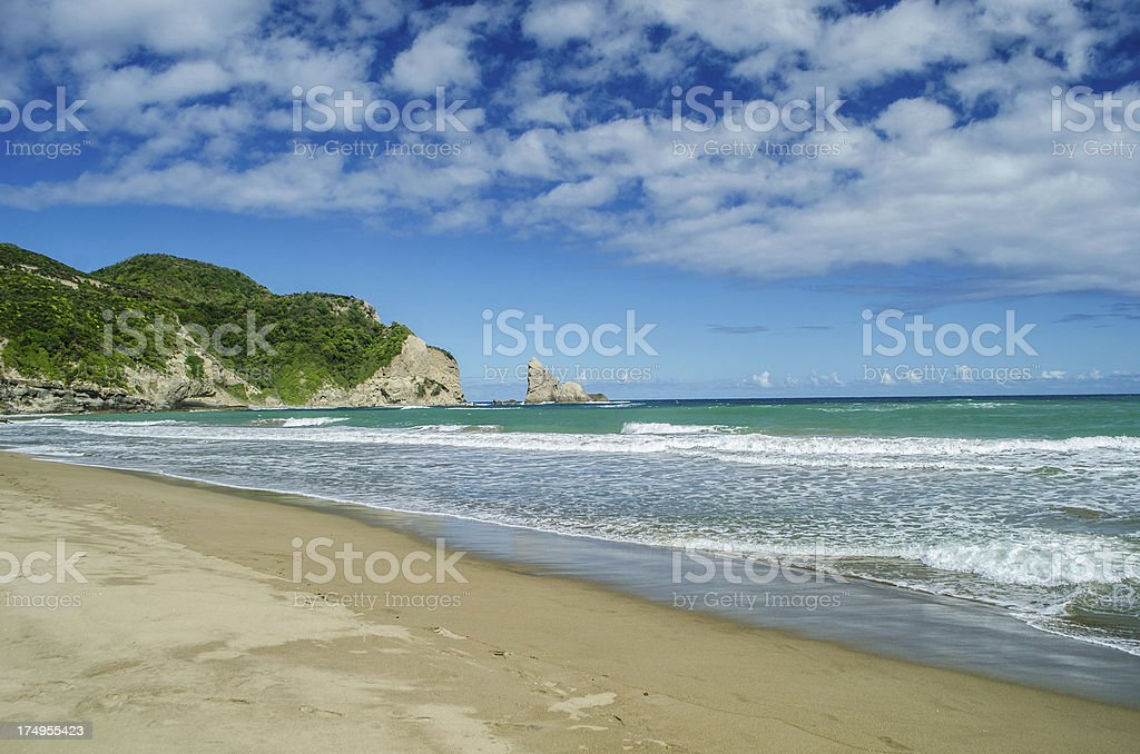 spectacular beach landscape; Fond D'or St Lucia stock photo