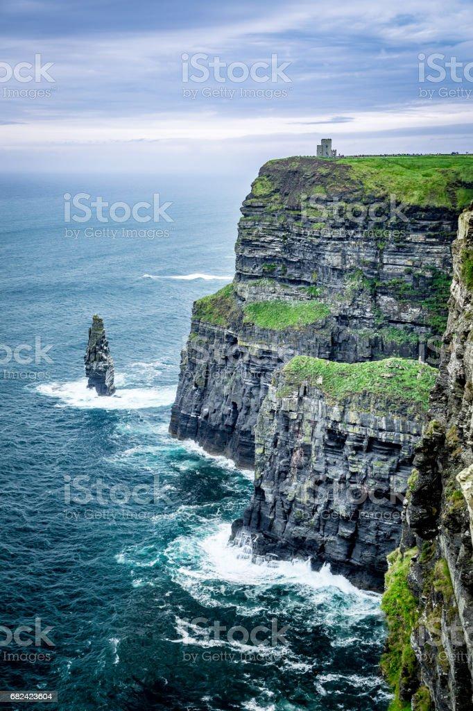 莫赫爾的壯觀的峭壁-愛爾蘭的海岸 免版稅 stock photo