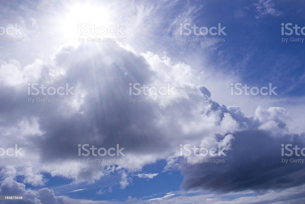 spectacular cloudscape, sky and sunbeam royalty-free stock photo