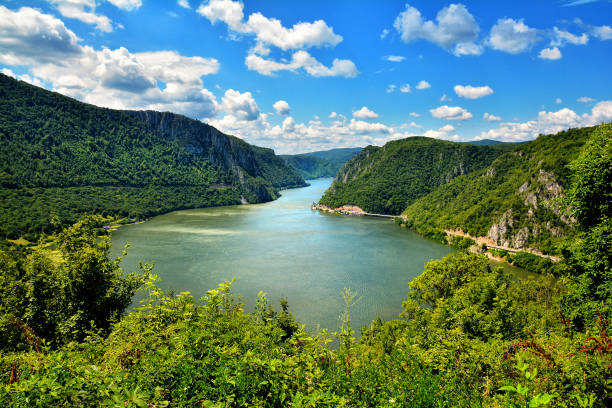 spectacular danube gorges - serbia stock photos and pictures