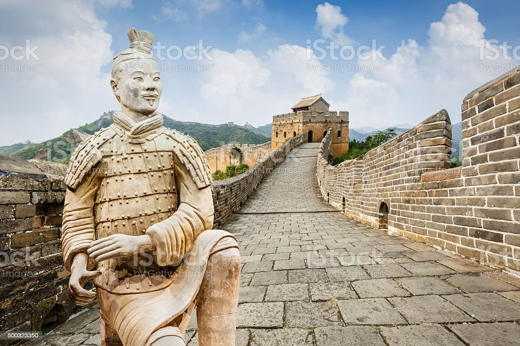 spectacular Great Wall of China,in Beijing royalty-free stock photo
