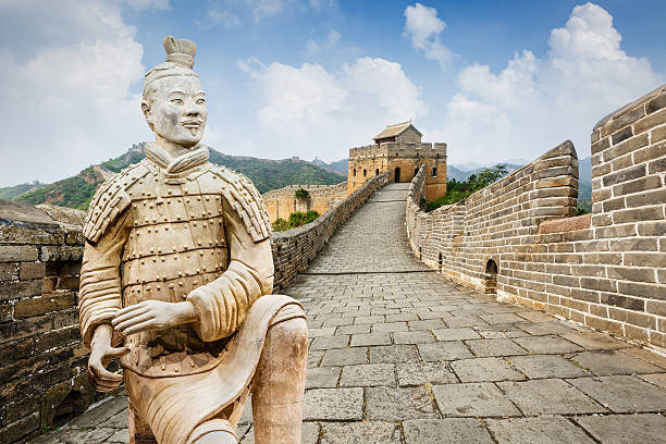 spectacular Great Wall of China,in Beijing stock photo