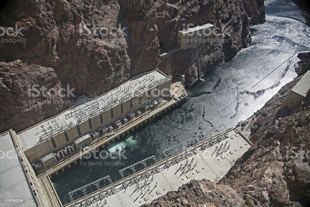 Spectacular Hoover Dam royalty-free stock photo