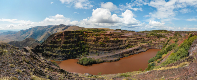 istock Spectacular landscape view of Negwenya Iron Ore Mine and sky 153452983