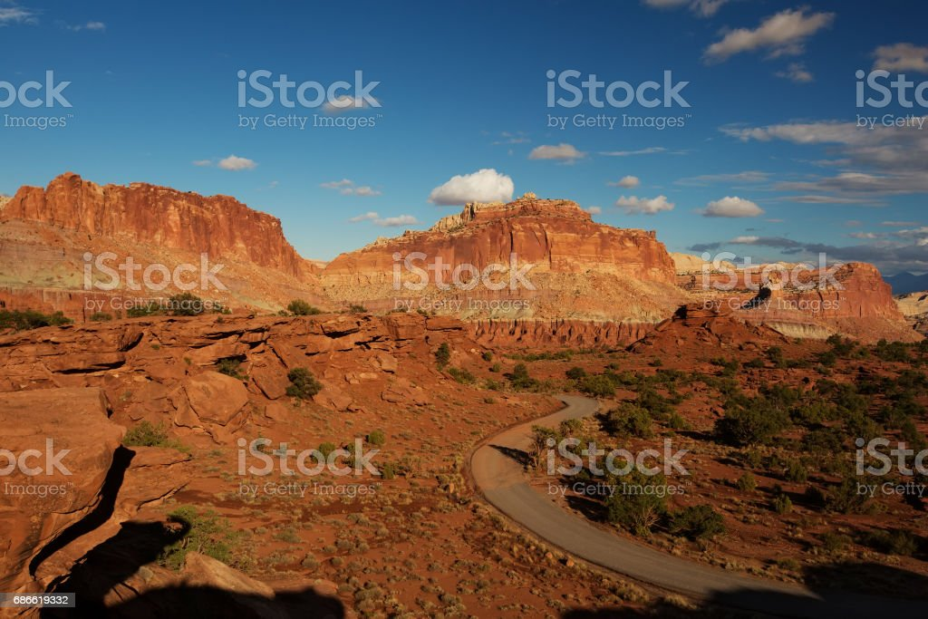 Spectacular landscapes of Capitol reef National park in Utah, USA royalty-free stock photo