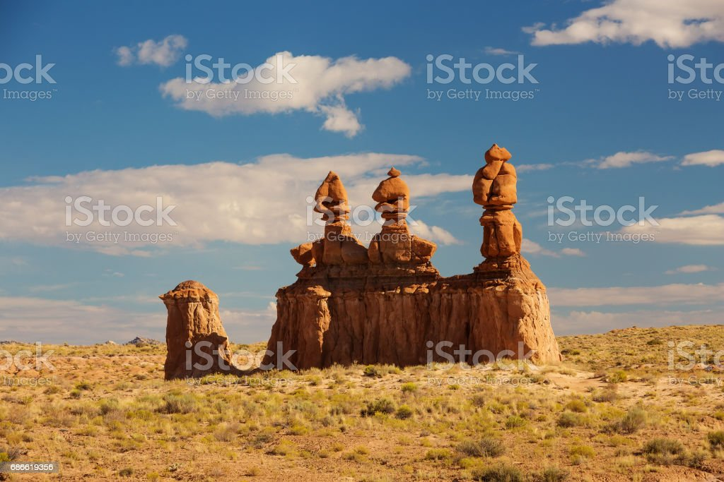 Spectacular landscapes of Goblin valley state park in Utah, USA royalty-free stock photo