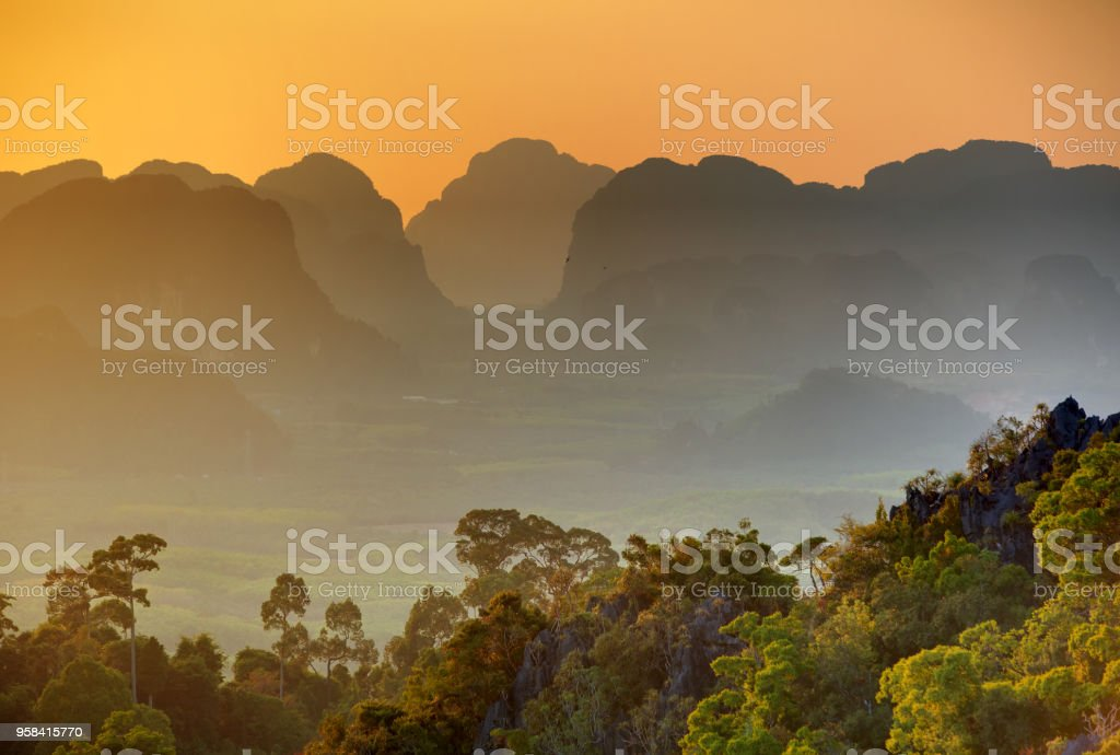 Spectacular Look At The Krabi Province From Tiger Cave