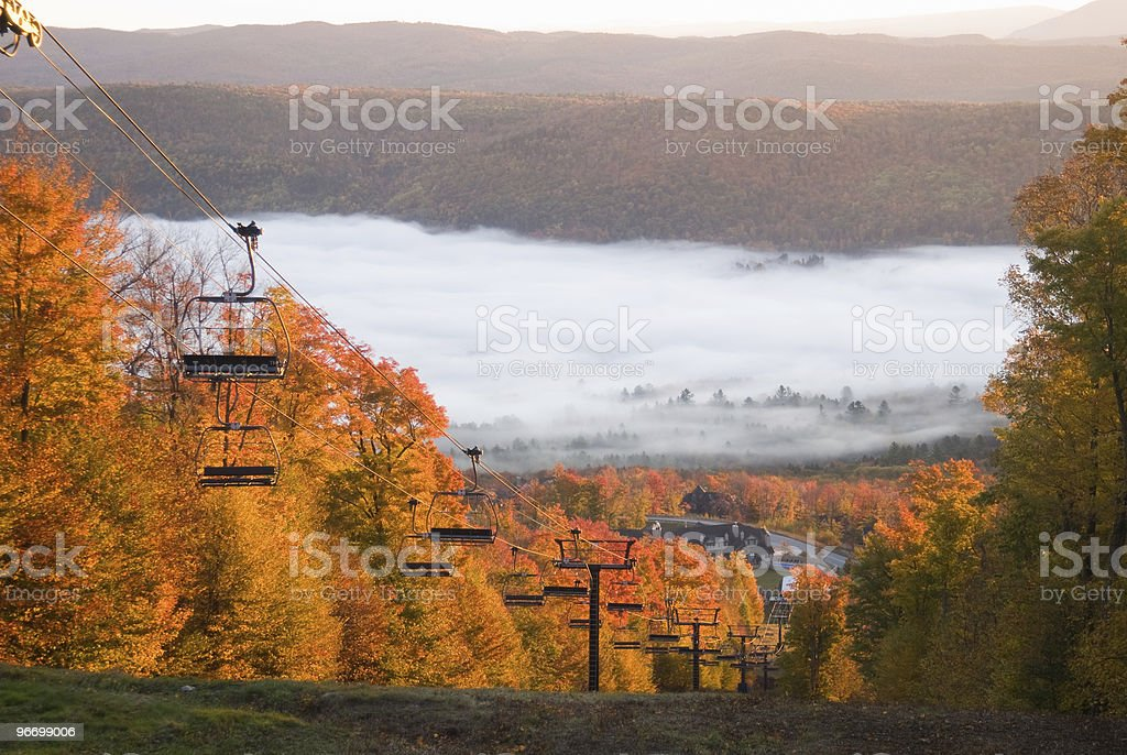 Spectacular mountain scenery on a misty morning royalty-free stock photo
