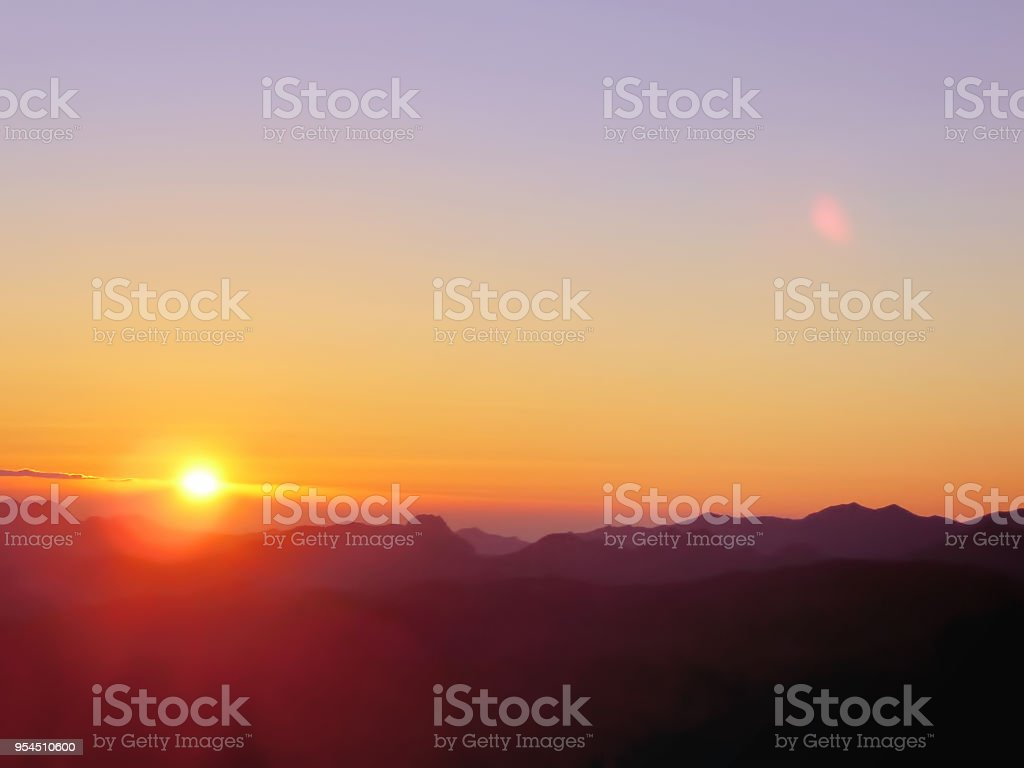 Spectacular Mt Sinai Sunrise Where Moses Received The Ten