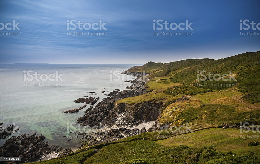 Spectacular North Devon Coastline stock photo