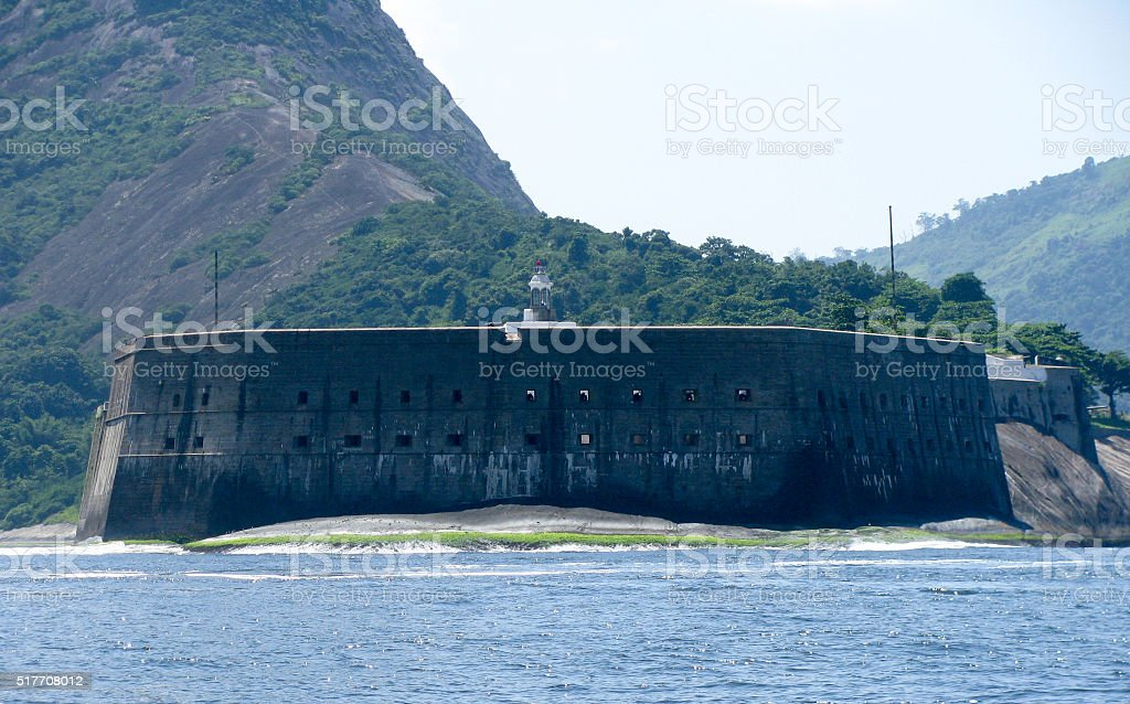 Spectacular panorama of Rio de Janeiro, Brazil, military fort view stock photo