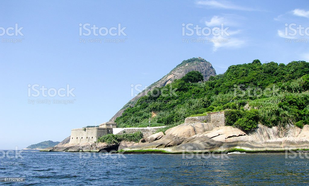 Spectacular panorama of Rio de Janeiro, Brazil - mountain view stock photo