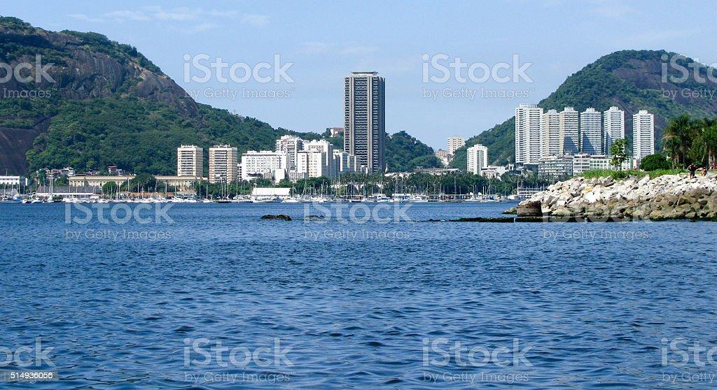 Spectacular panorama of Rio de Janeiro, Brazil stock photo