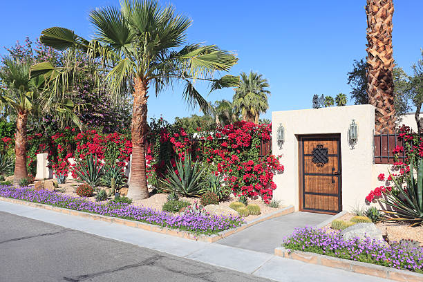 Residencial espectacular paisaje del desierto - foto de stock
