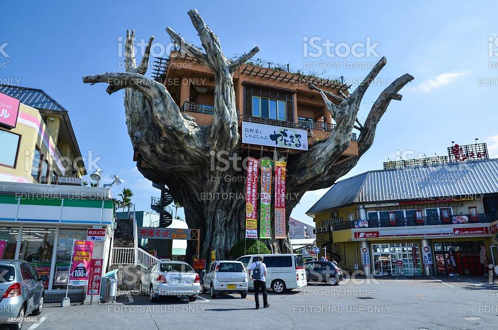 Spectacular restaurant in Naha City, Okinawa, Japan stock photo