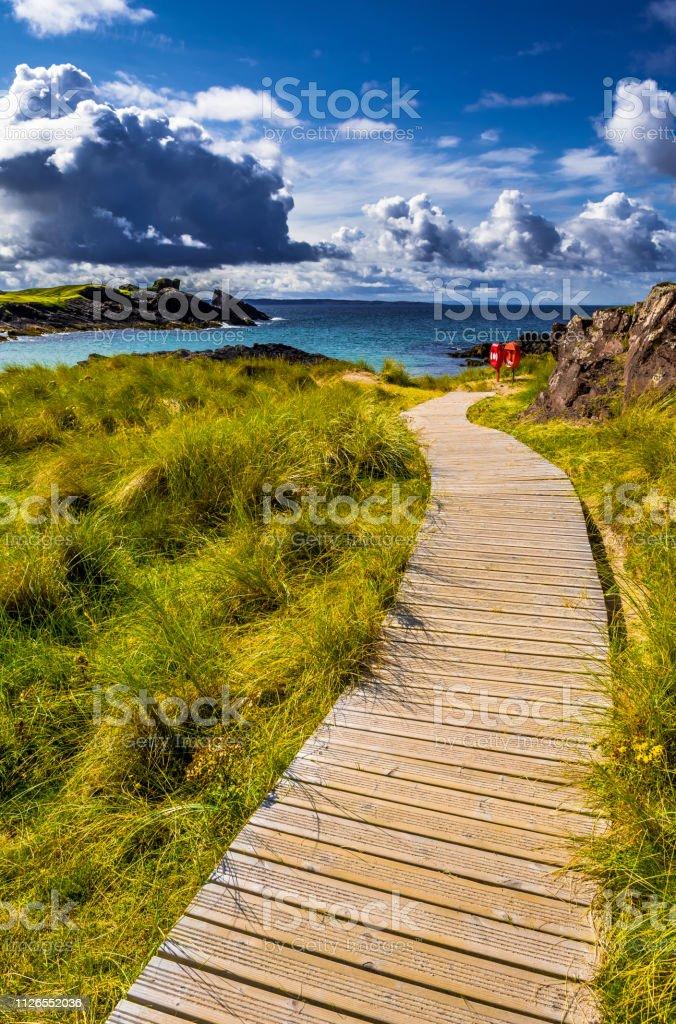 Spectacular Sandy Clachtoll Beach And Atlantic Coast Near Lochinver...