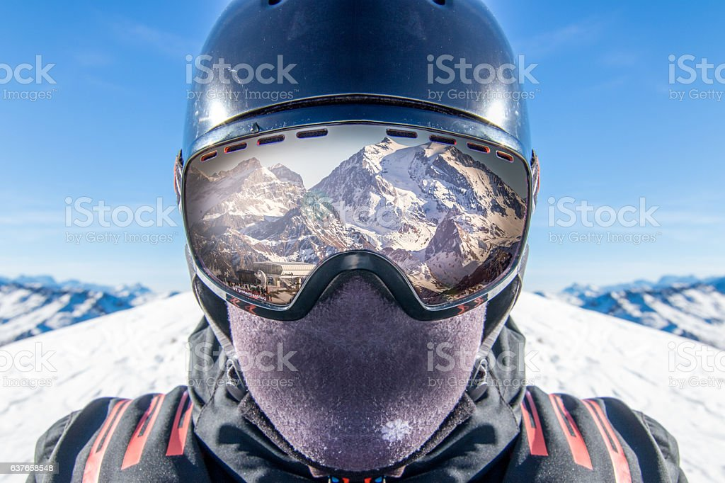 Spectacular Ski Experience stock photo