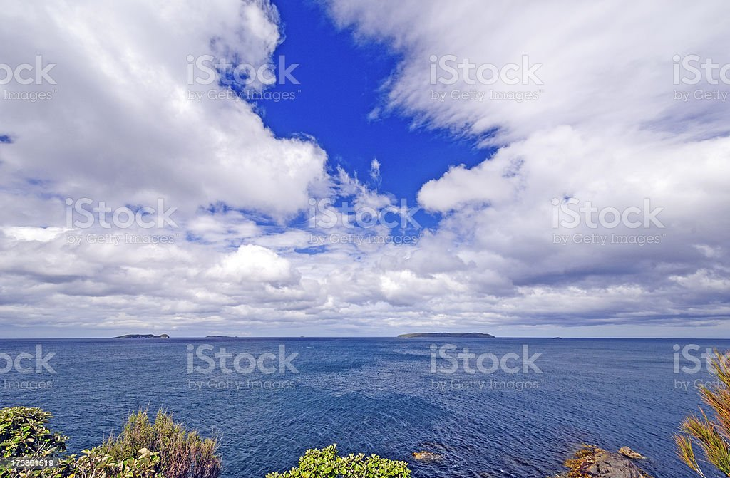 Spectacular Skies from an Ocean Viewpoint stock photo
