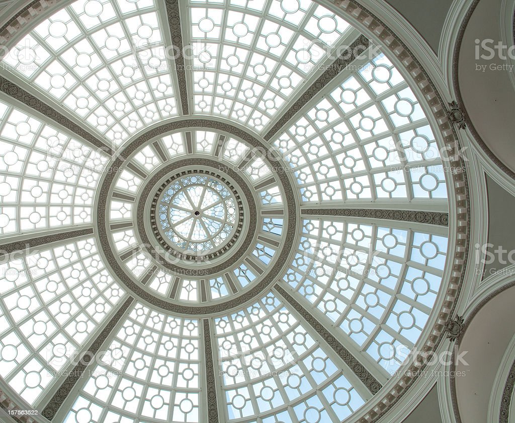 Spectacular skylight stock photo