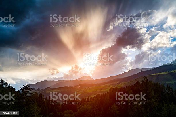 Photo of Spectacular sunset in mountains