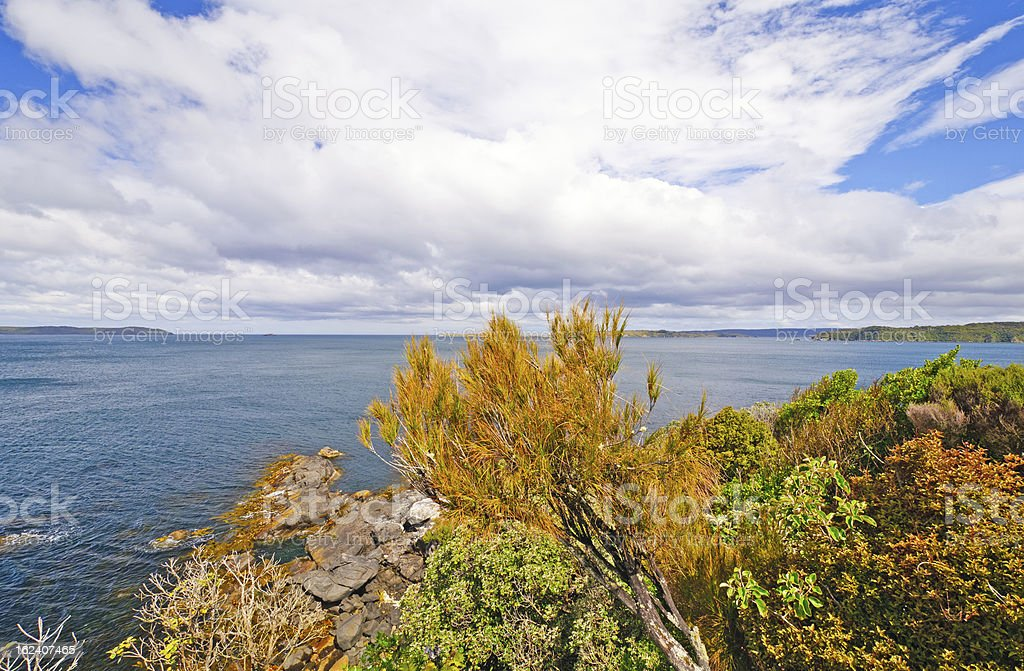 Spectacular View from an Ocean Lookout stock photo
