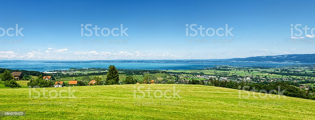 Spectacular view from Appenzellerland to lake Constance in switzerland stock photo