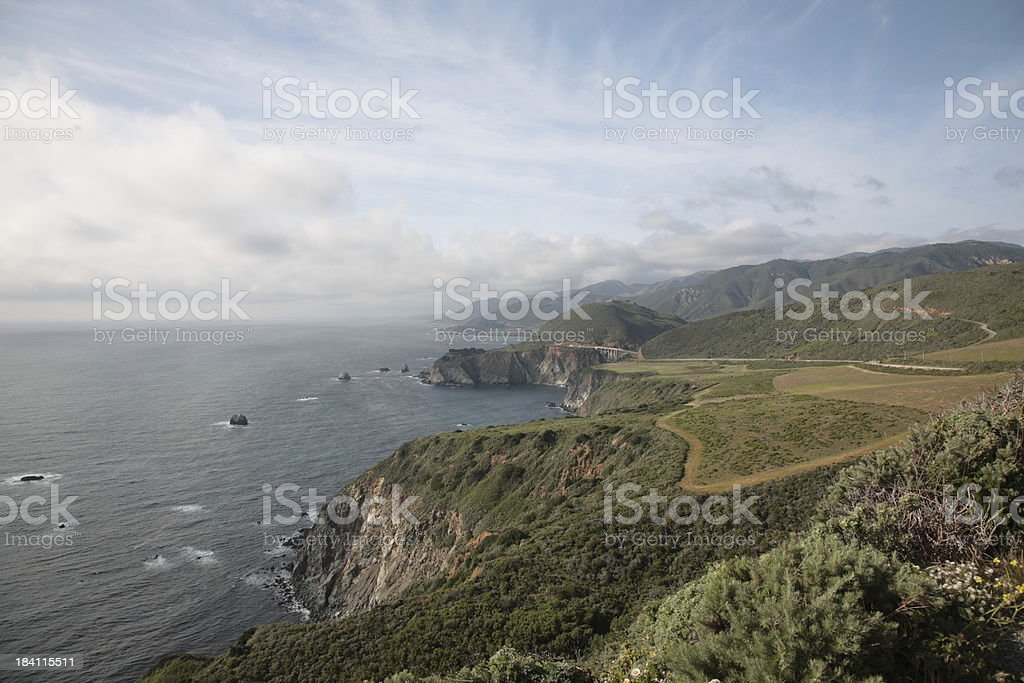 Spectacular view of Big Sur in California stock photo