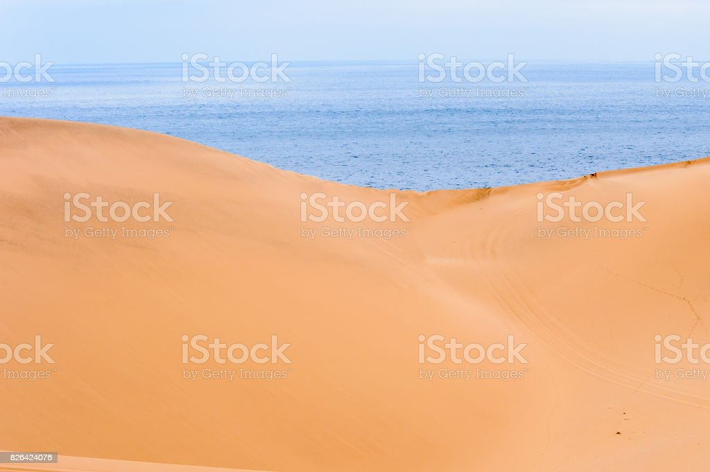 Spectacular view of the Sand dunes at the Namib-Naukluft National Park, Namibia stock photo