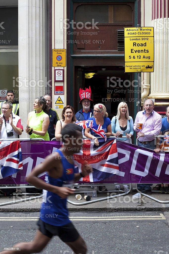 Spectating the Marathon stock photo