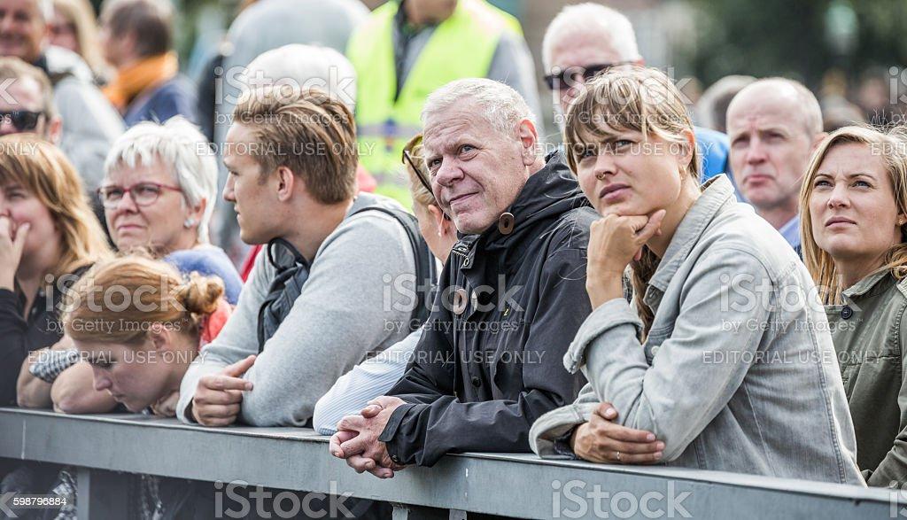 Spectators at Cope'n'waken 2016, Copenhagen, Denmark stock photo