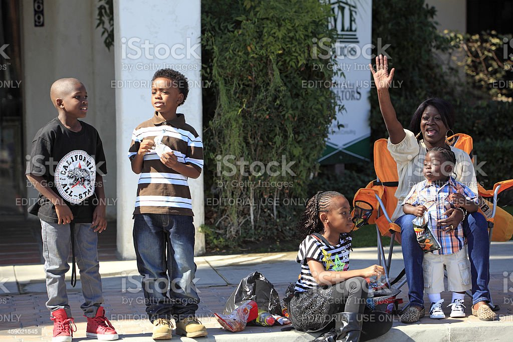 Spectators At The Black History Parade stock photo