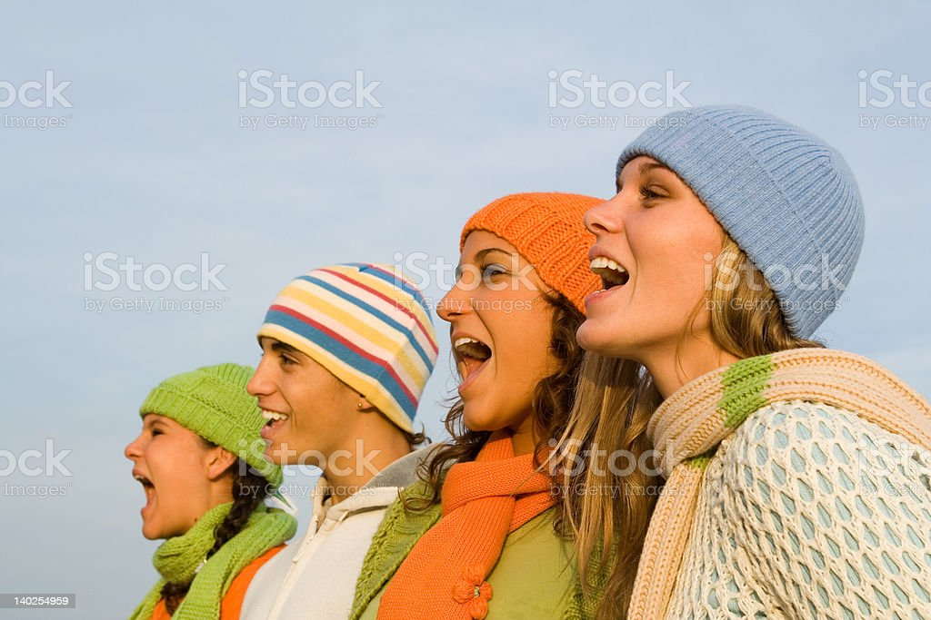 spectators cheering(SEE below for similar images) stock photo