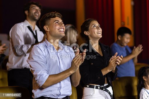 483876497 istock photo Spectators clapping hands after show 1188594502