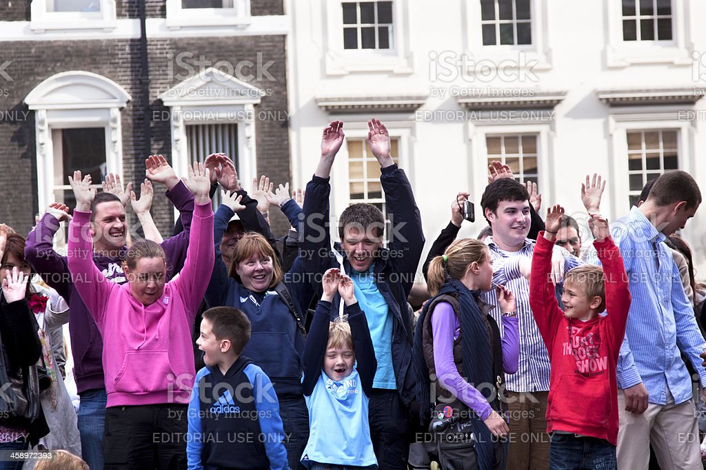 Spectators Doing The Wave royalty-free stock photo