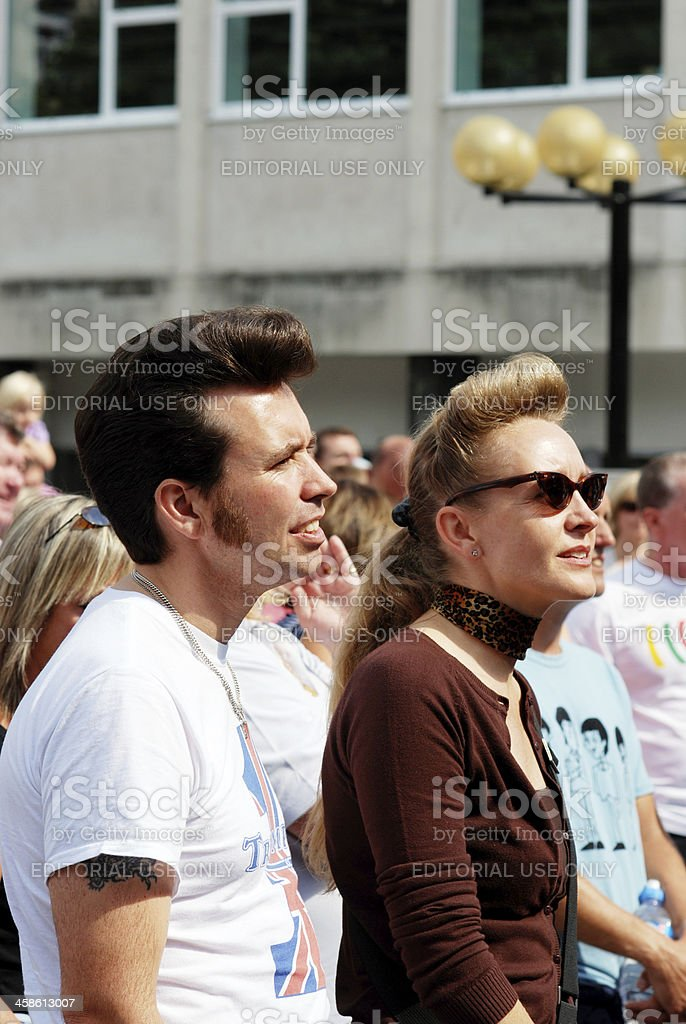 Spectators during Mathew Street Festival royalty-free stock photo