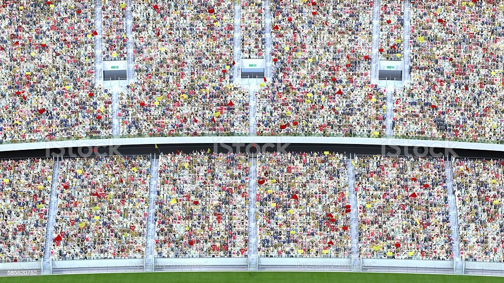 spectators in the stadium. 3d rendering стоковое фото