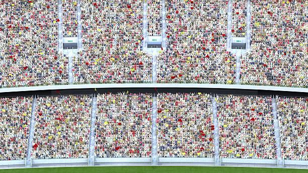 Cтоковое фото spectators in the stadium. 3d rendering