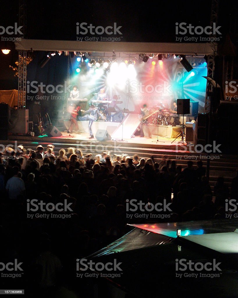 Spectators & music band stage royalty-free stock photo